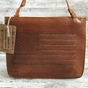 NWT Most Wanted USA Made Leather Crossbody Bag
